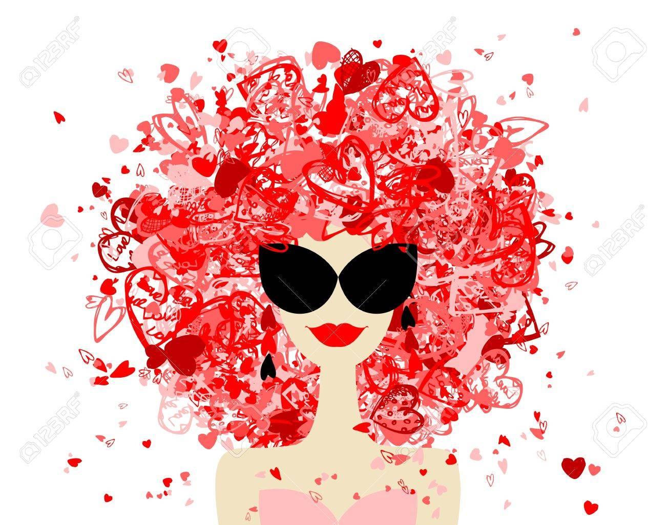 Fashion woman portrait for your design Stock Vector - 12335047