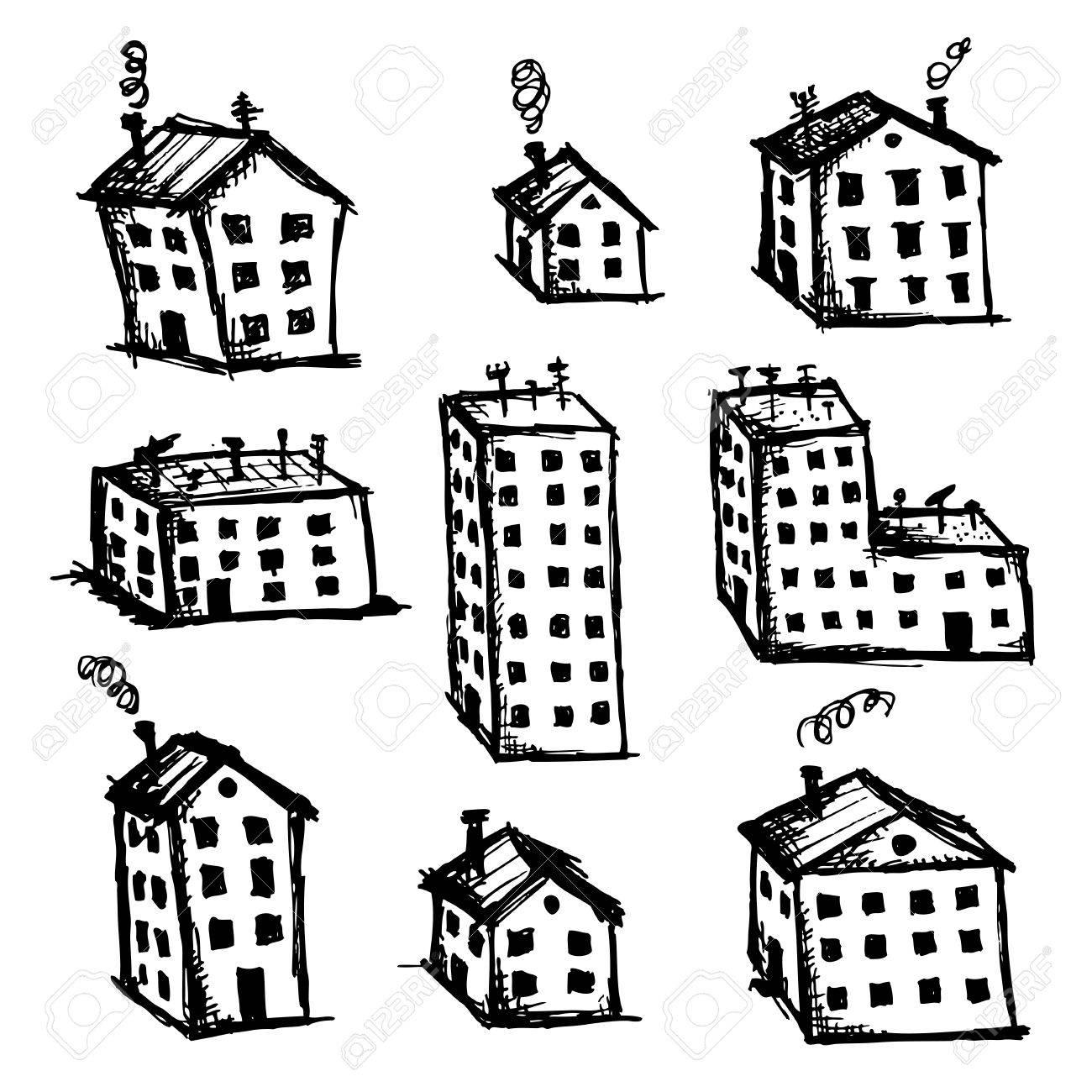 foto de archivo juego de dibujo para el diseo de casas