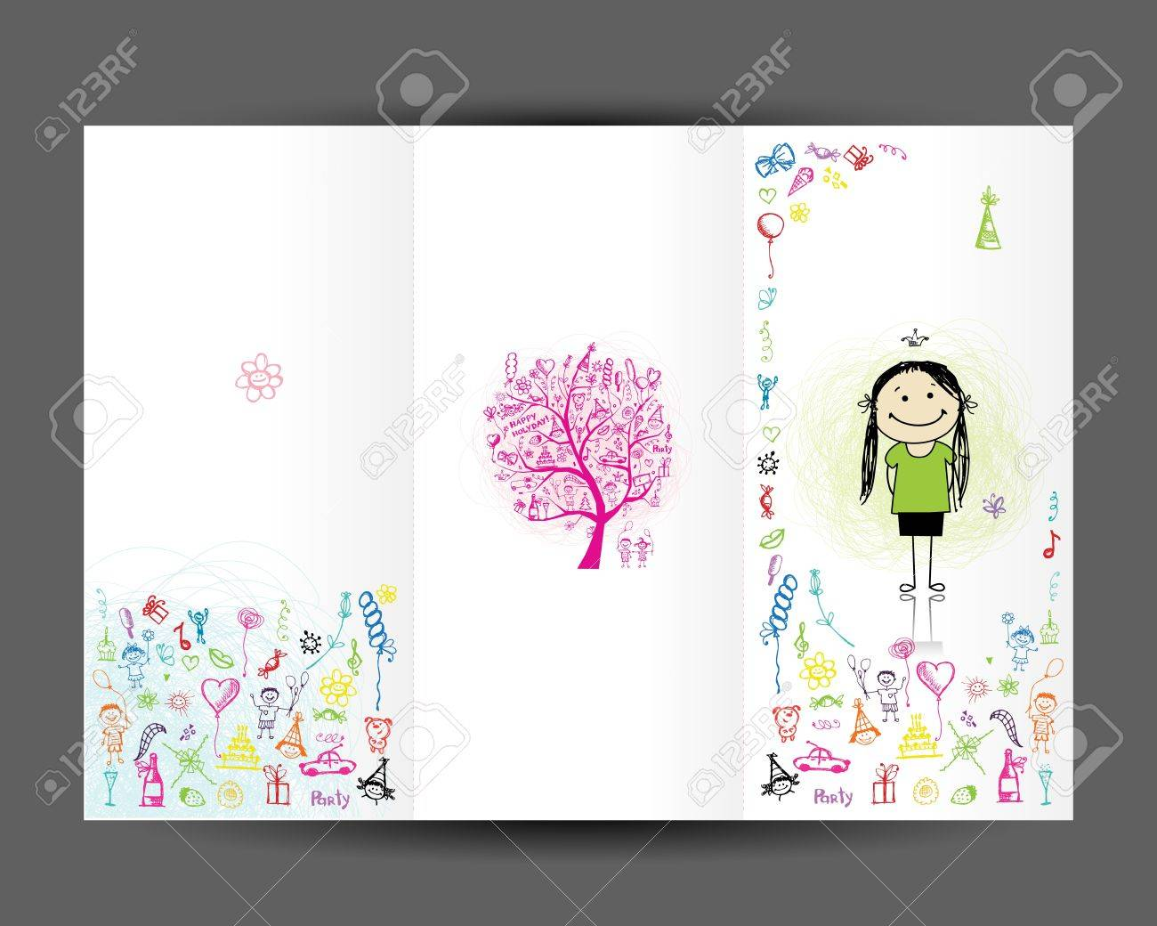 birthday postcard cover page design for your print royalty birthday postcard cover page design for your print stock vector 14366023