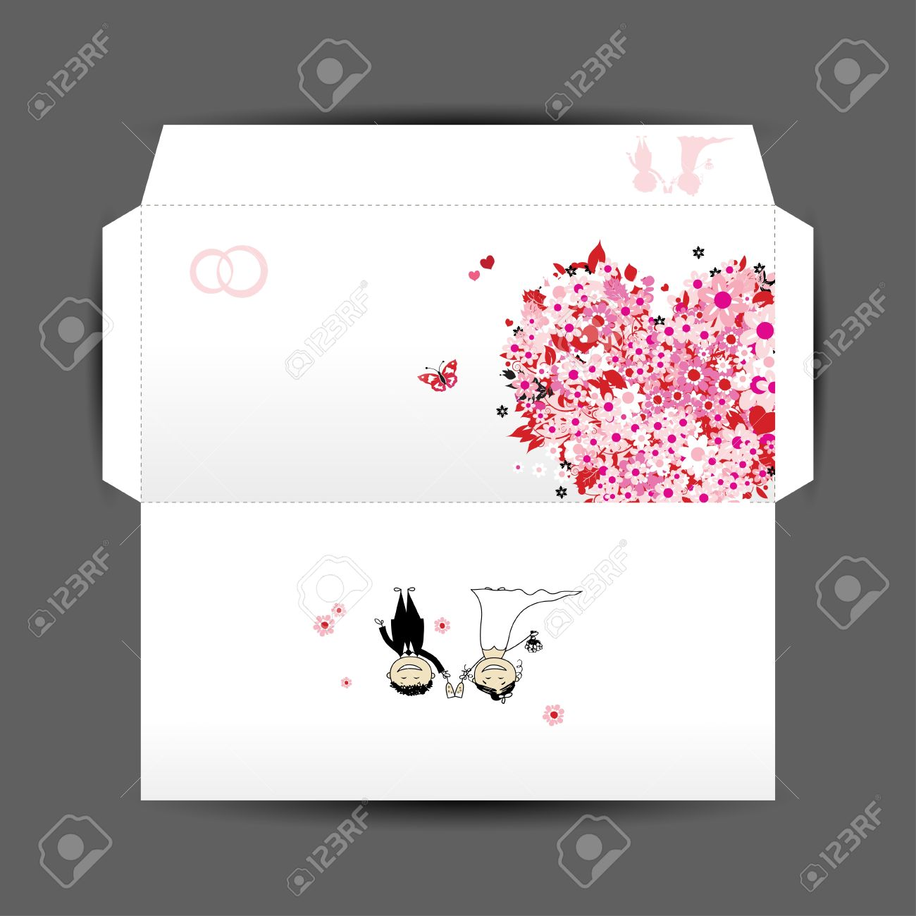 design of wedding envelope royalty free cliparts vectors and stock