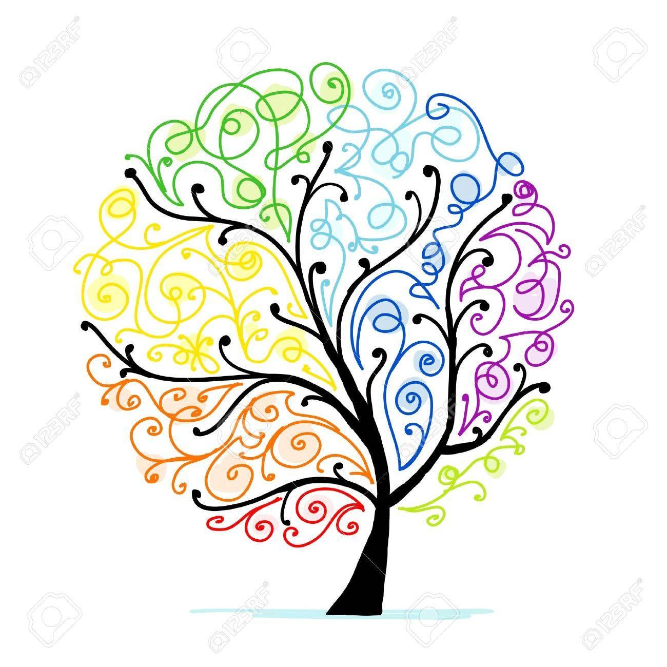 あなたの設計のための芸術の木虹...