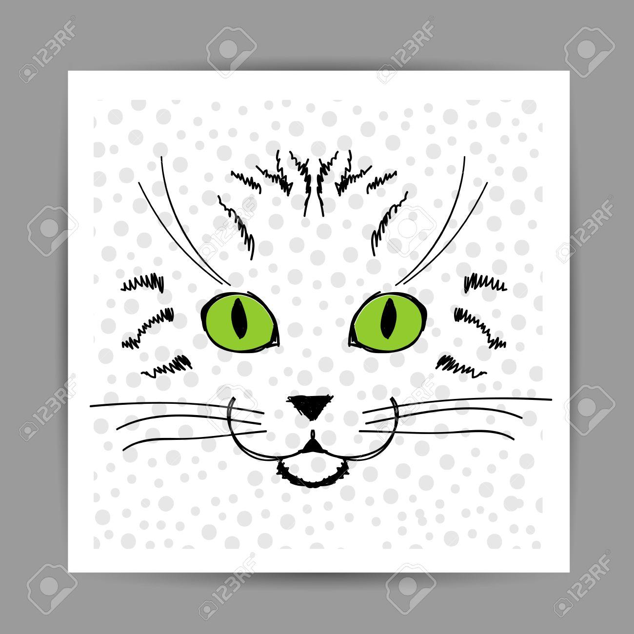 Sketch Cute Cat Cute Cat Face Sketch