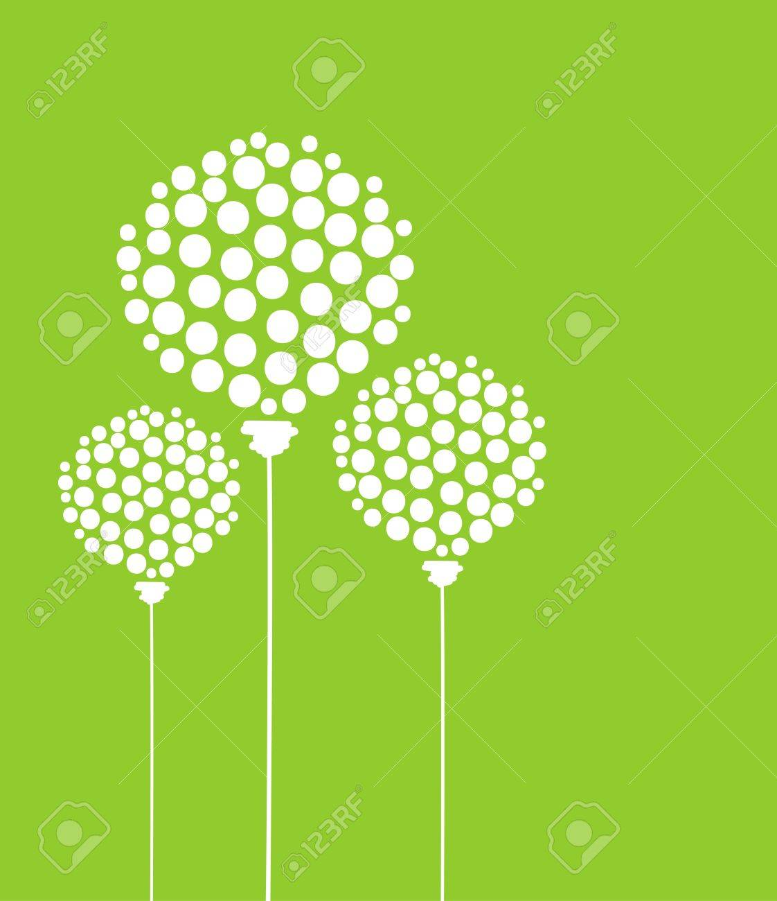 Abstract dandelion flowers, postcard for your design Stock Vector - 14946600