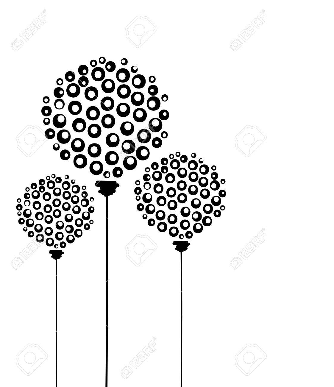 Abstract dandelion flowers, postcard for your design Stock Vector - 14946588