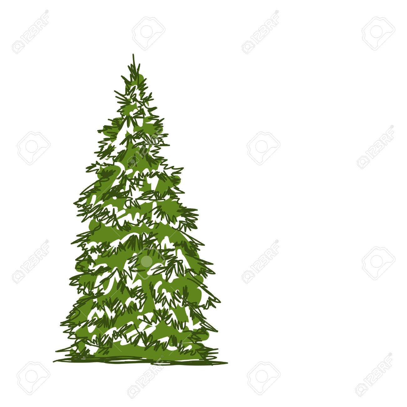 pine tree isolated on white sketch for your design royalty free rh 123rf com vector pine trees vector pine trees