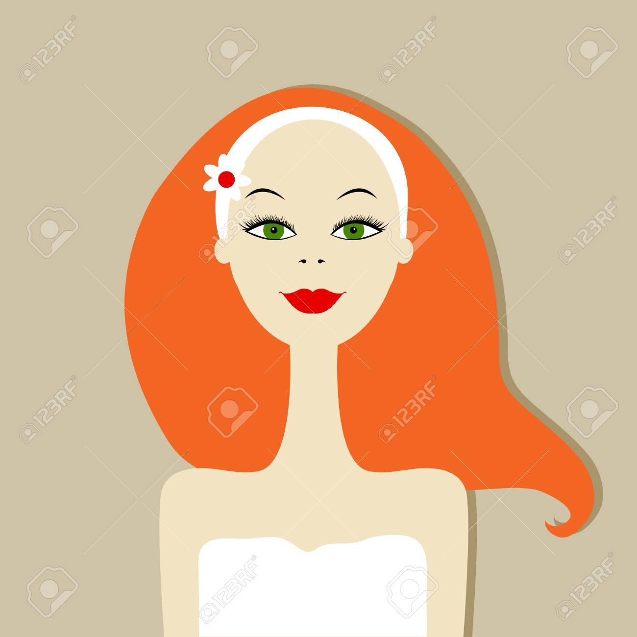 Pretty woman portrait, spa salon Stock Vector - 15359425