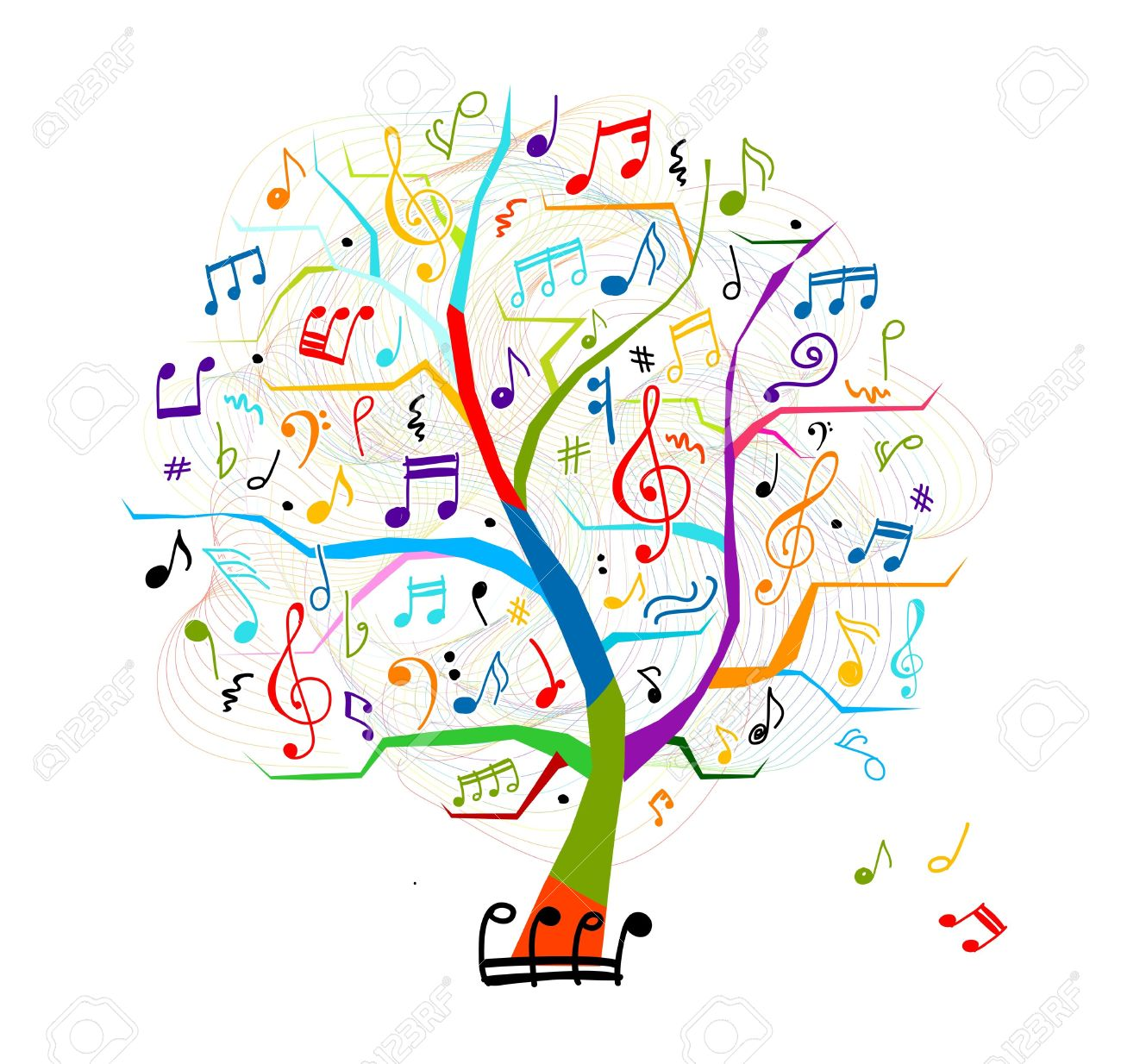 Abstract musical tree for your design Stock Vector - 15478205