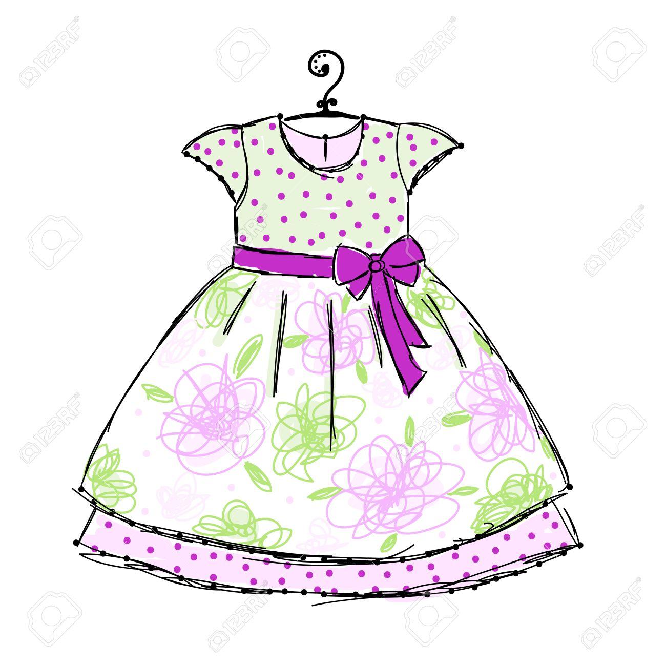 a dress cartoon