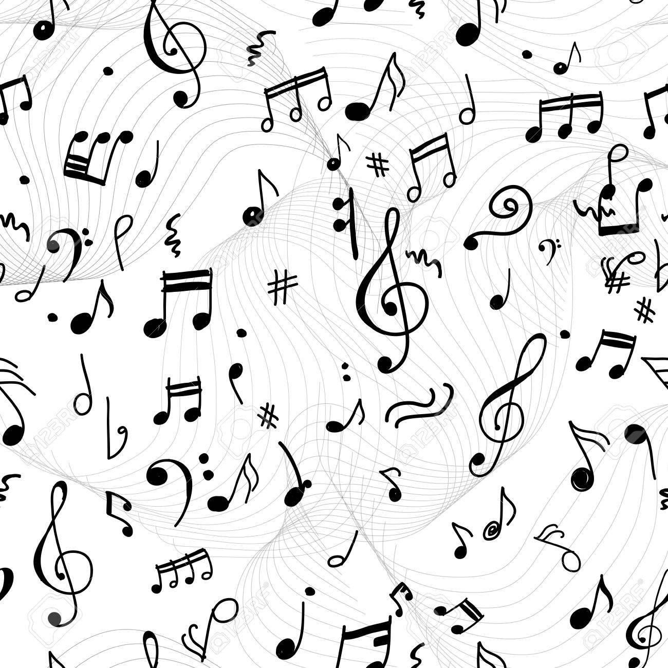 Zusammenfassung Musikalischen Muster Für Ihr Design Lizenzfrei