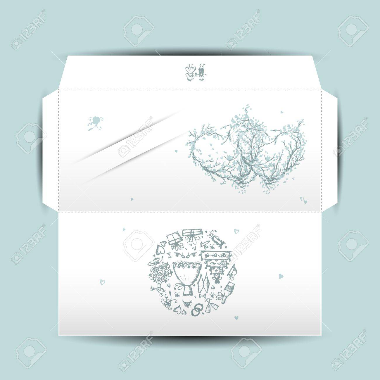 Design of wedding envelope Stock Vector - 16683354