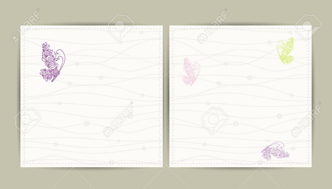 Abstract postcard with butterfly for your design Stock Vector - 16798551
