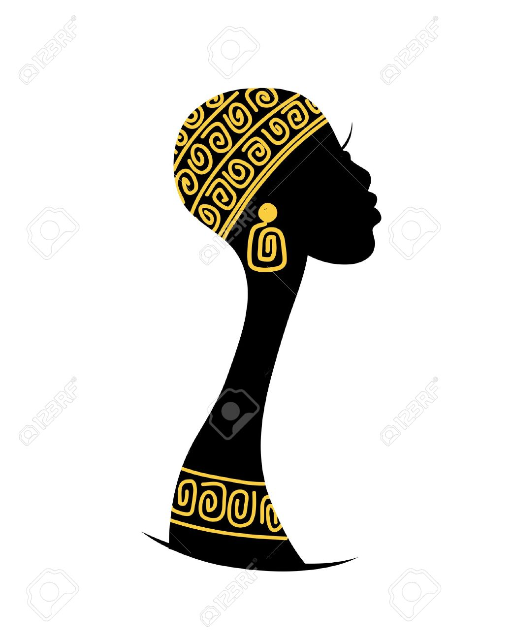 female head silhouette for your design royalty free cliparts