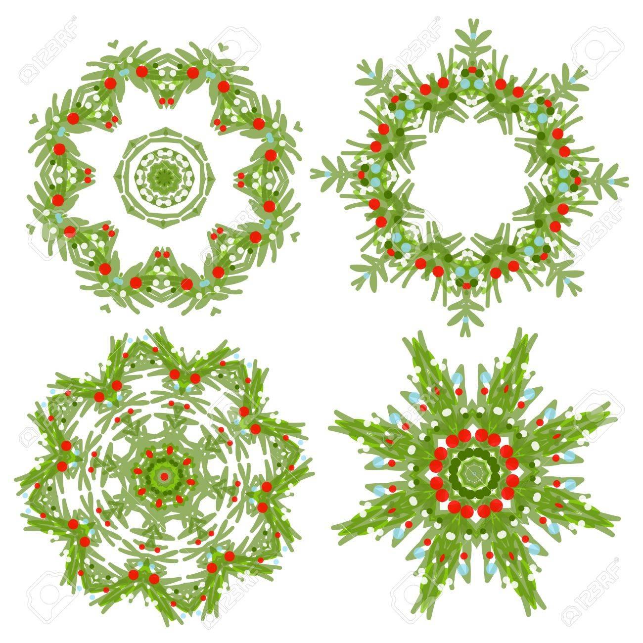 conjunto de guirnaldas de navidad para su diseo foto de archivo 20232915