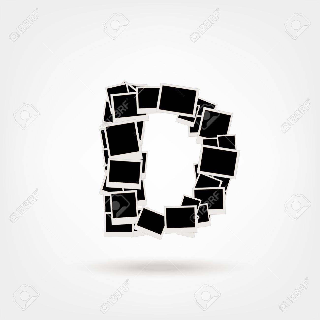 Letter D made from photo frames, insert your photos Stock Vector - 21693883