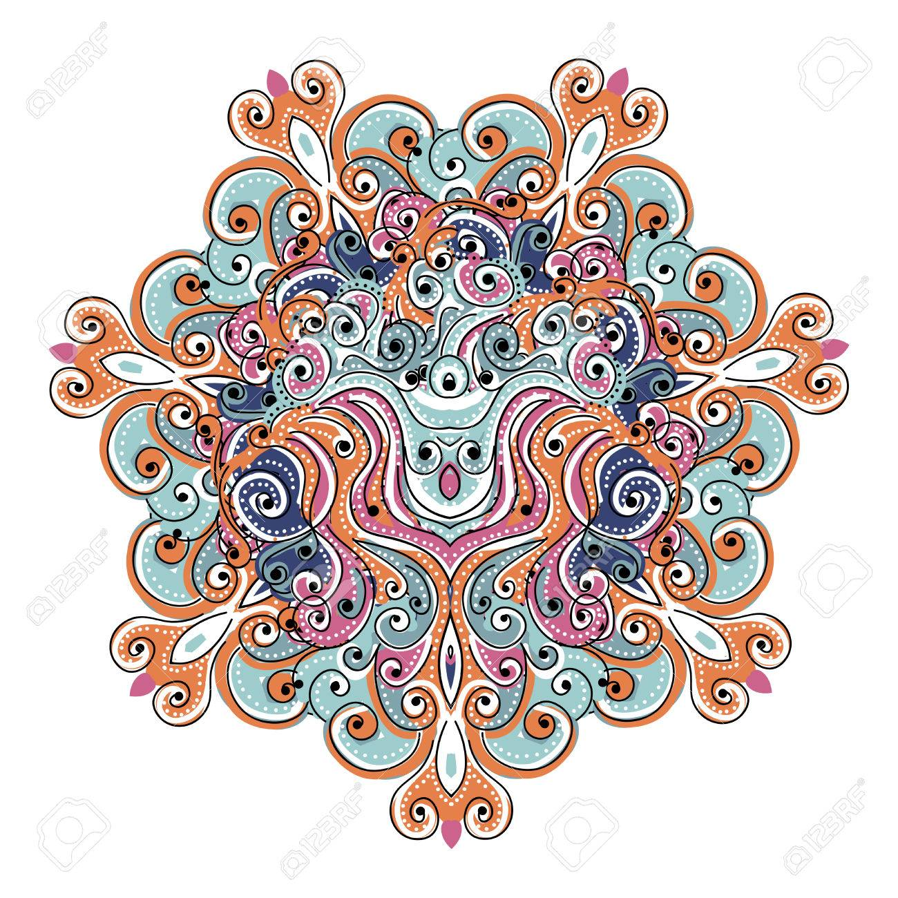 Colorful arabesque ornament for your design Stock Vector - 22697451