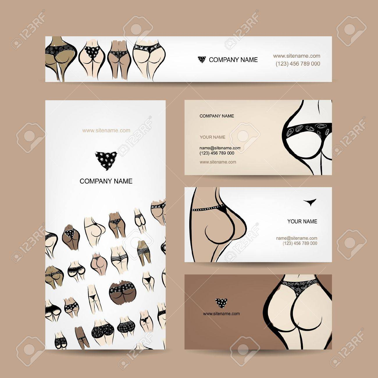 Bikini business cards