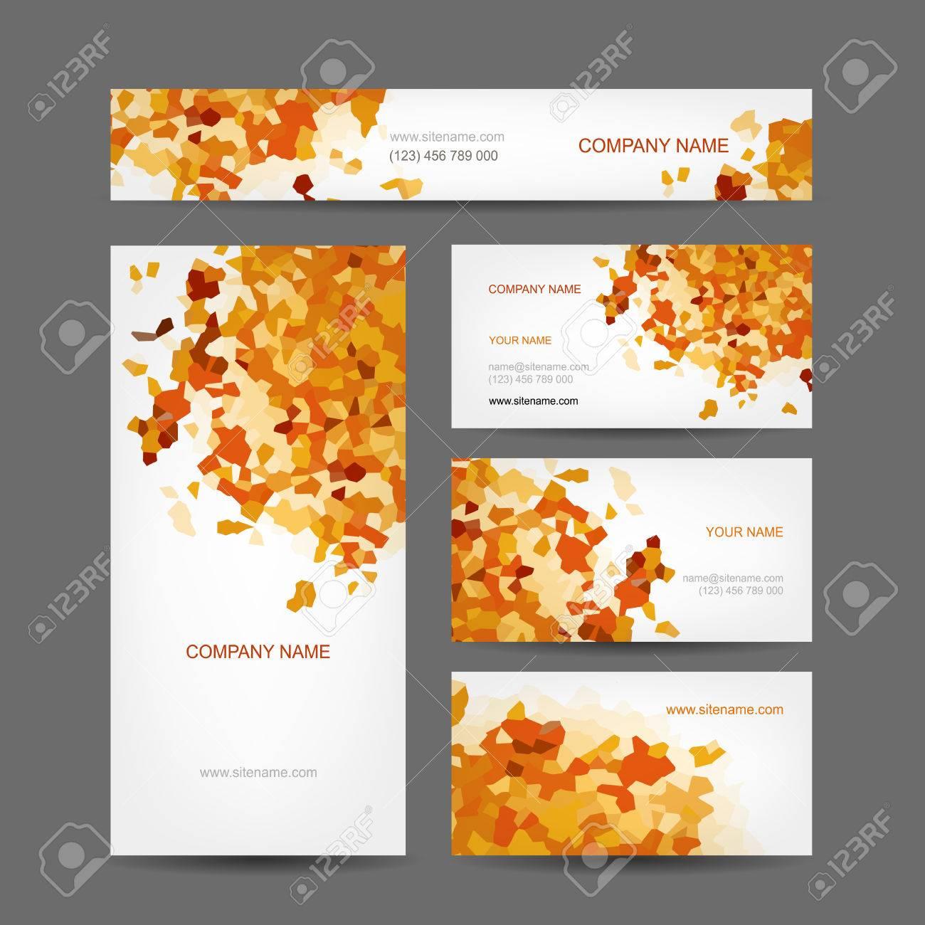 Ensemble De Creation Des Cartes Visite Design Le Style L