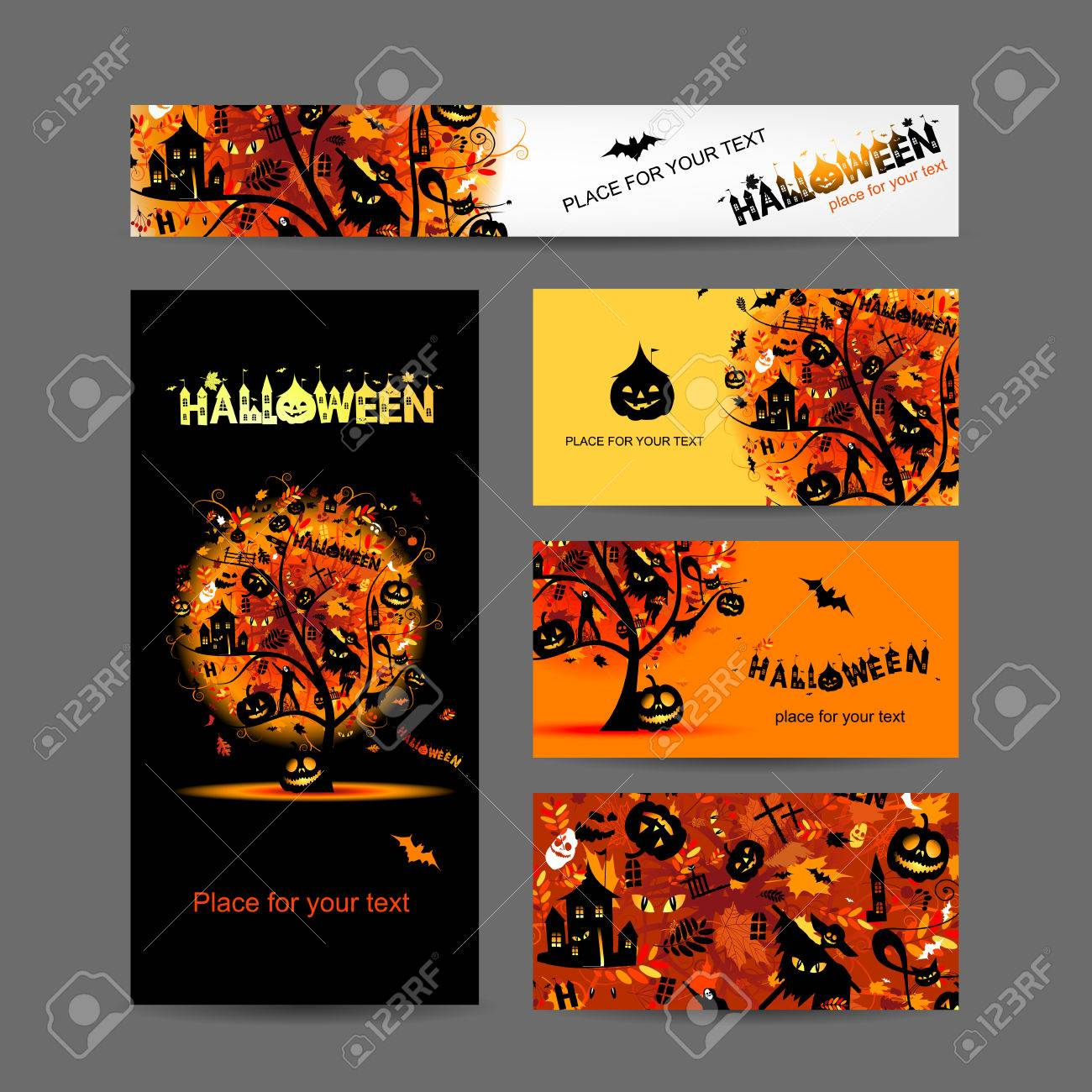 Invitation cards design for halloween party royalty free cliparts invitation cards design for halloween party stock vector 26618963 stopboris Images