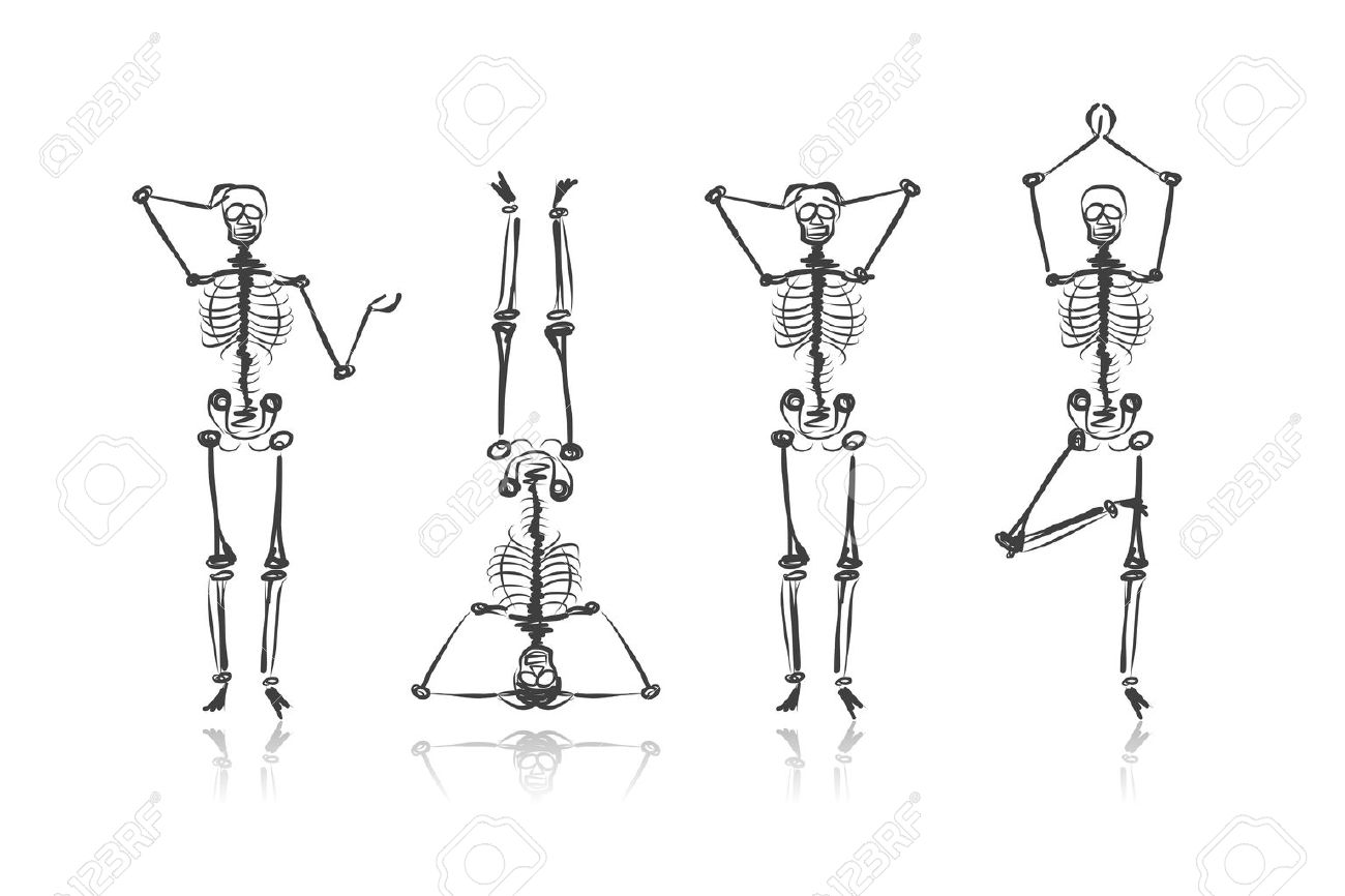 Skeleton sketches for your design Stock Vector - 27151547