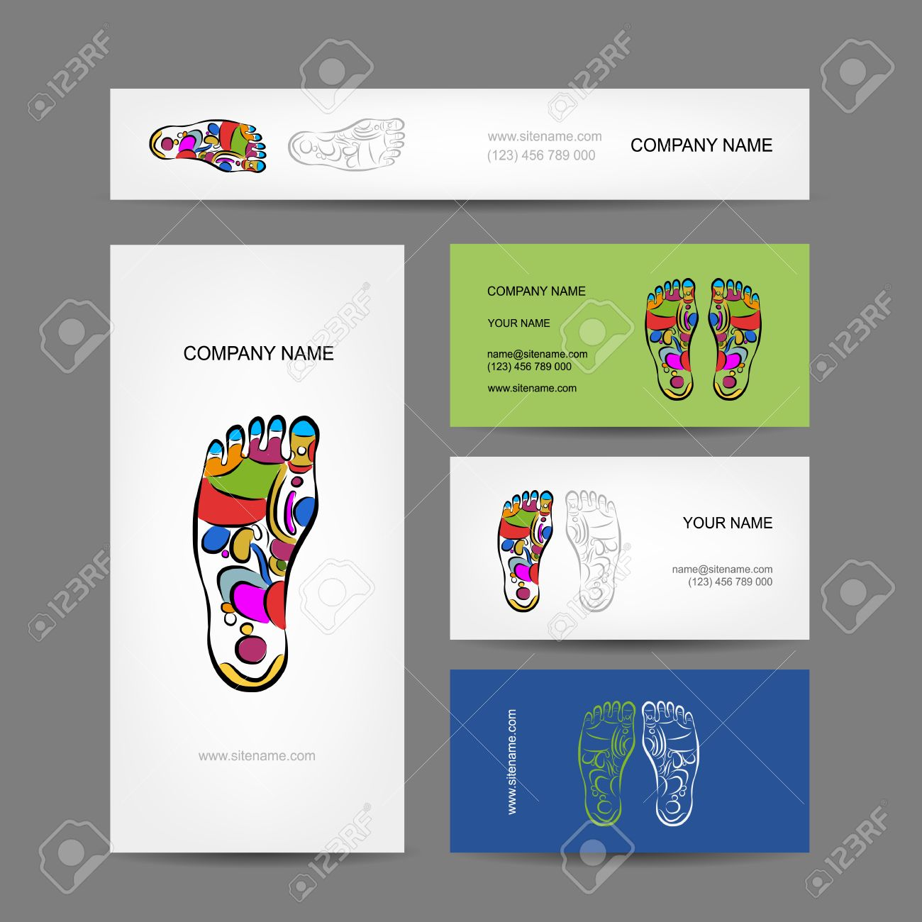 Les Cartes De Visite Conception Massage Rflexologie Plantaire