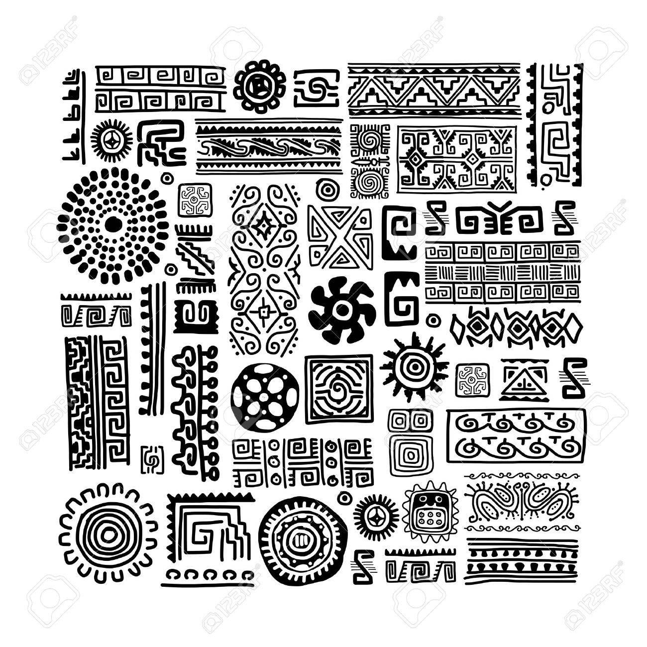Ethnic handmade ornament for your design Stock Vector - 29228225