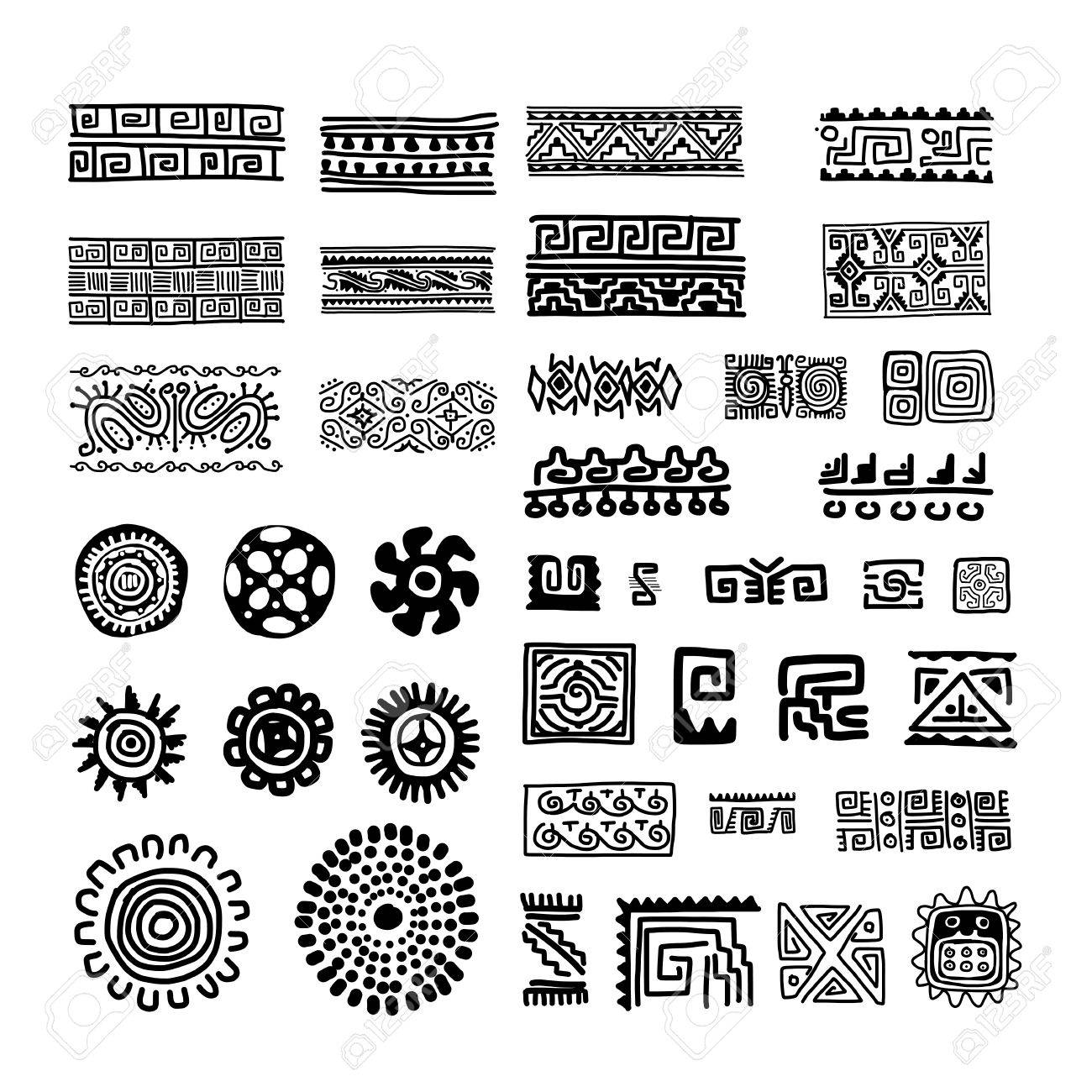 Ethnic handmade ornament for your design Stock Vector - 29253641