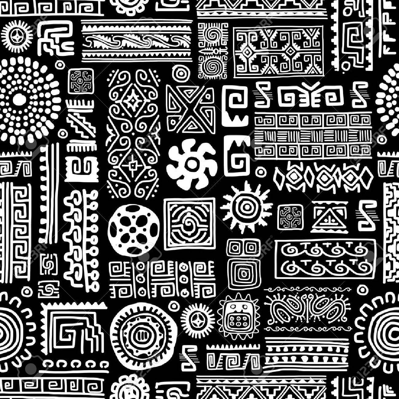 Ethnic handmade ornament, seamless pattern for your design Stock Vector - 36996892