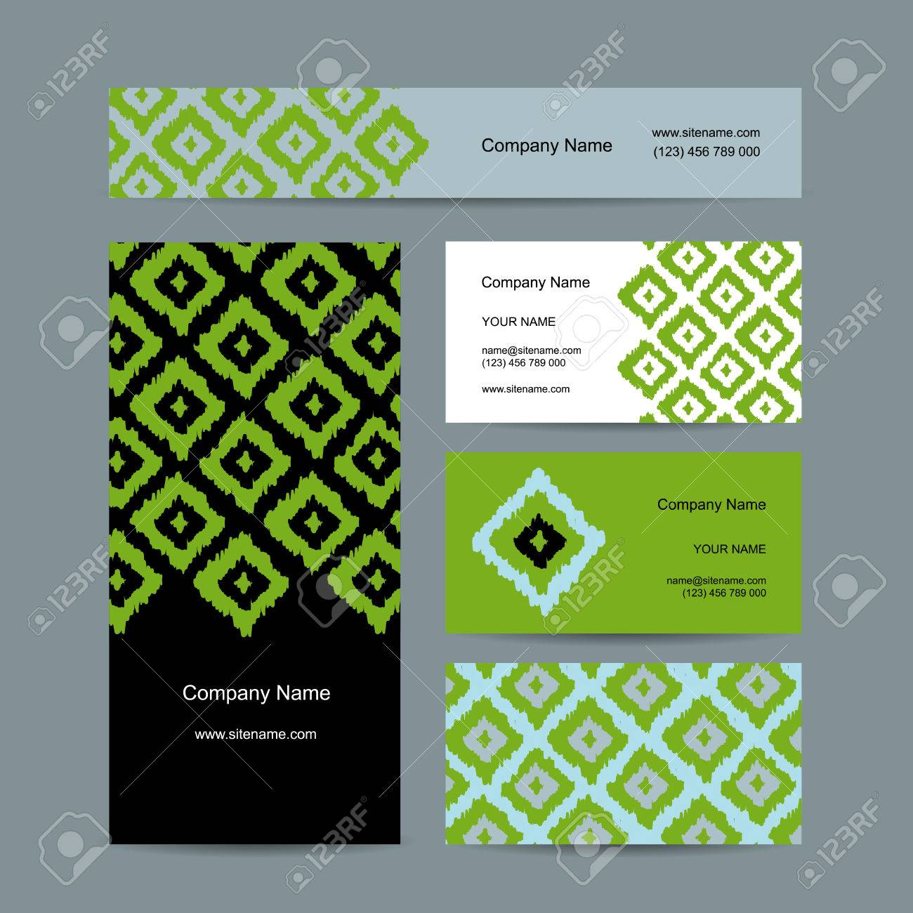 Business cards design geometric fabric pattern royalty free business cards design geometric fabric pattern stock vector 39693819 colourmoves