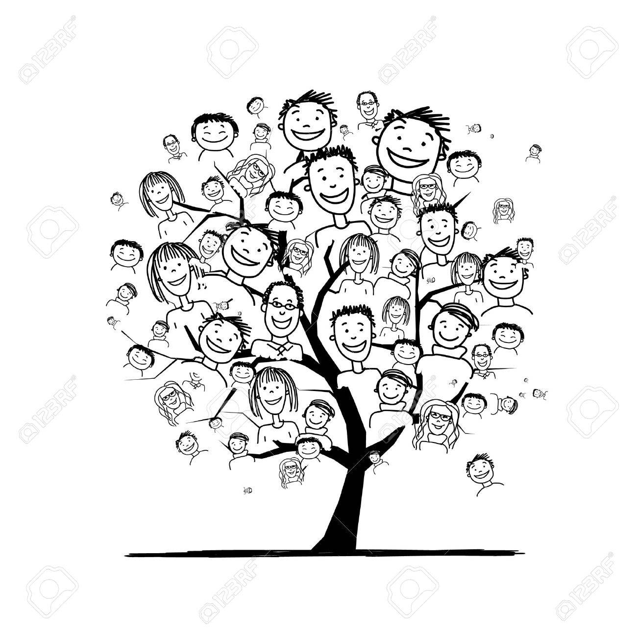People tree for your design Stock Vector - 41116543
