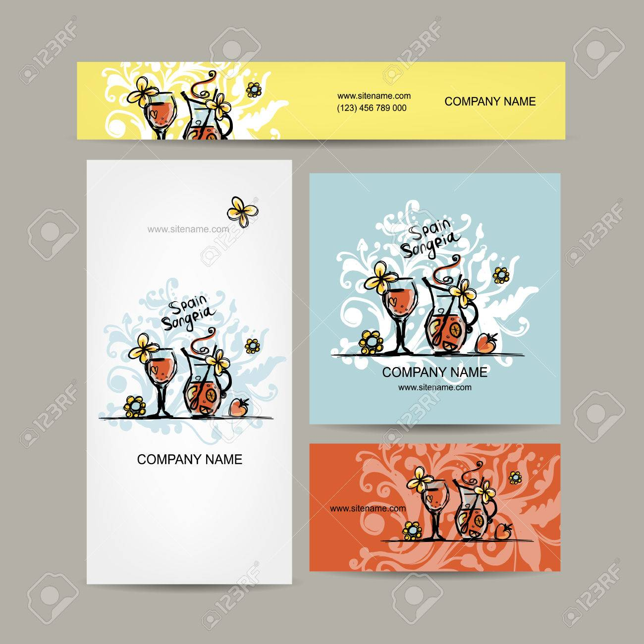 Sangria spanish drink business cards design vector illustration sangria spanish drink business cards design vector illustration stock vector 43266098 reheart Image collections