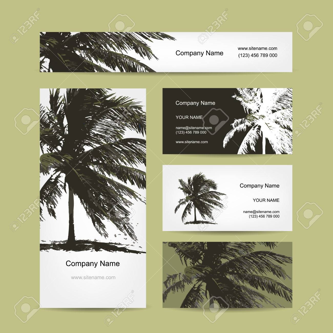 Business cards design with tropical palm tree vector illustration business cards design with tropical palm tree vector illustration stock vector 45320357 colourmoves