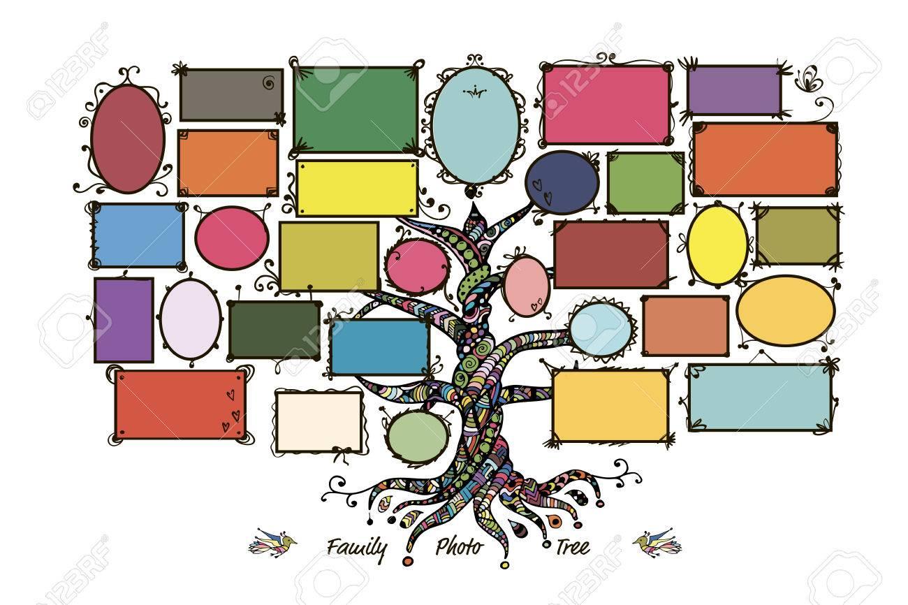 Bonito Marcos De Cuadros árbol Genealógico Sello Festooning - Ideas ...