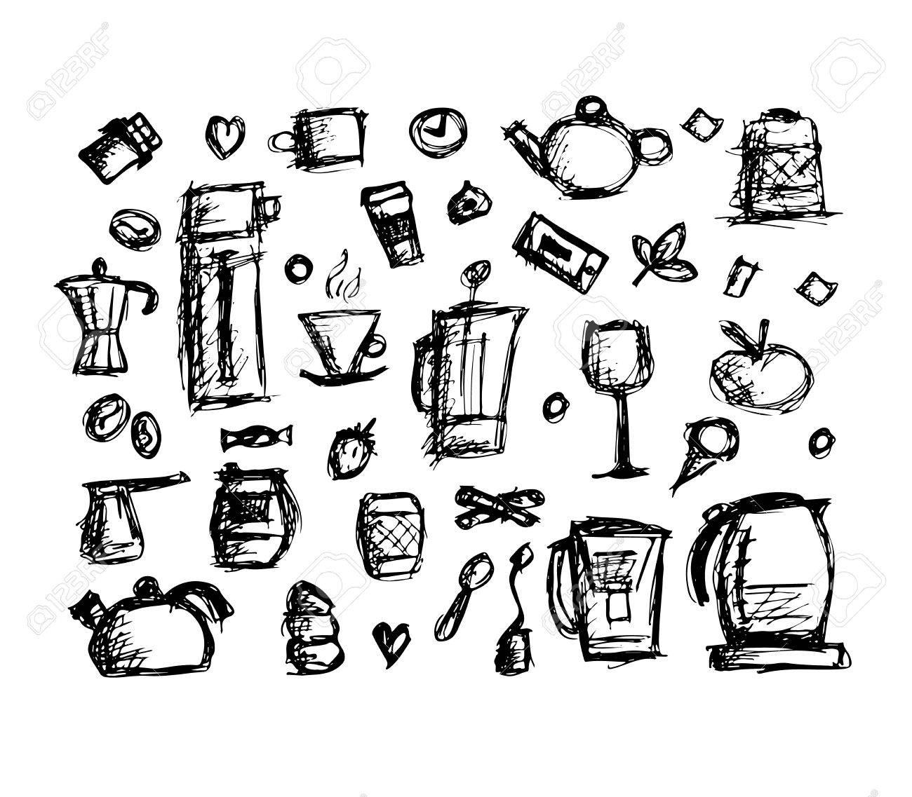 Kuchenutensilien Skizze Fur Ihr Design Zeichnen Vektor Illustration Lizenzfrei Nutzbare Vektorgrafiken Clip Arts Illustrationen Image 61980057