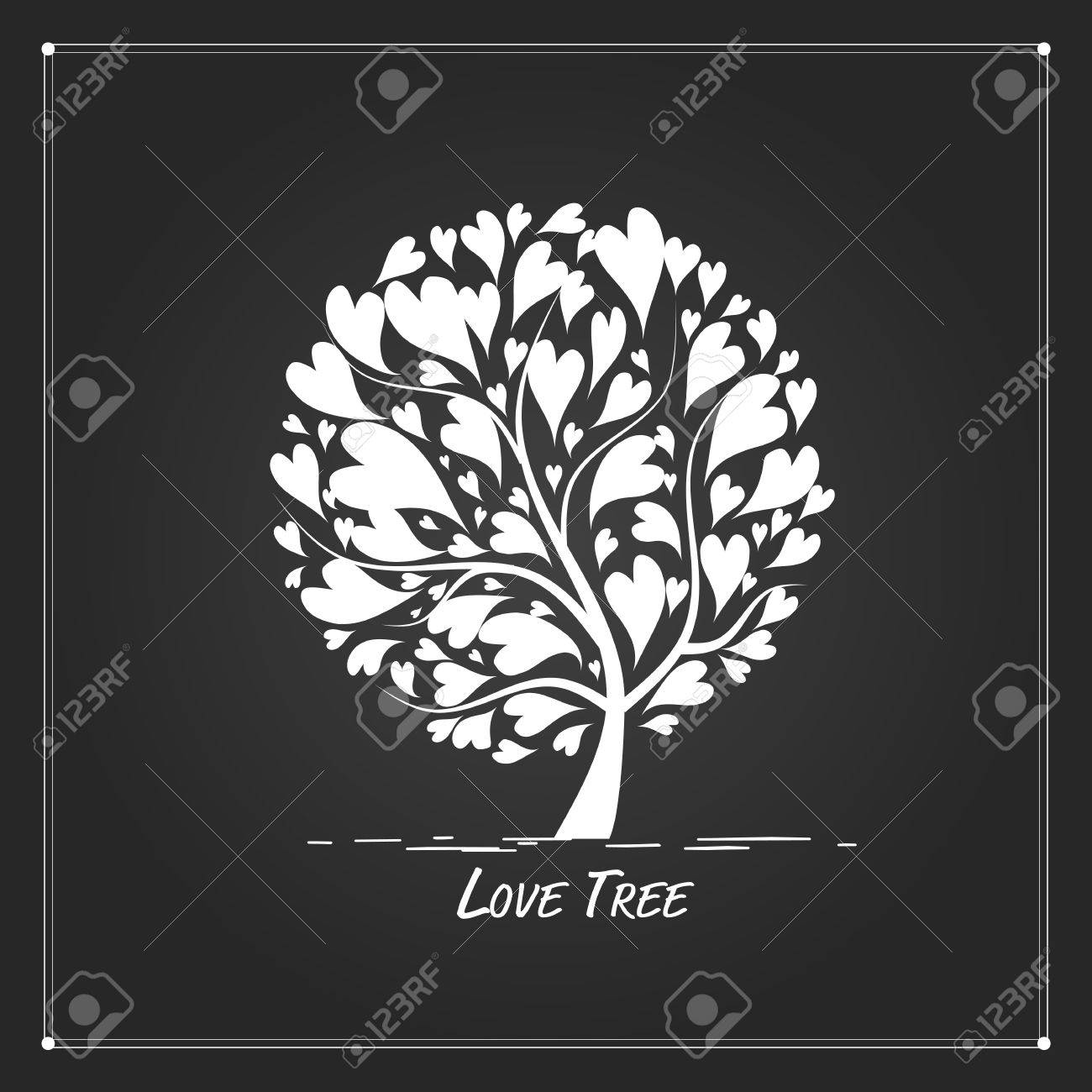 Love tree for your design. illustration - 68559202