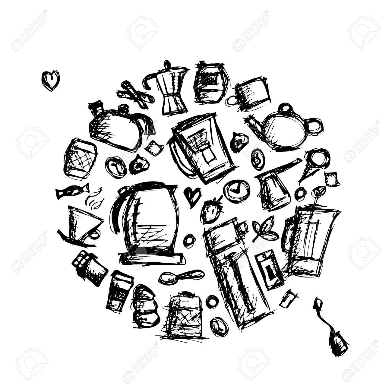 Kuchenutensilien Skizze Fur Ihr Design Zeichnen Vektor Illustration Lizenzfrei Nutzbare Vektorgrafiken Clip Arts Illustrationen Image 75075220