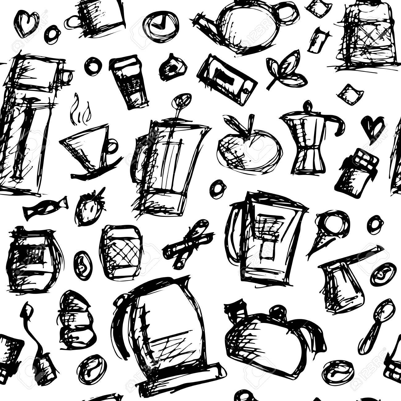 Kuchenutensilien Skizze Fur Ihr Design Zeichnen Lizenzfrei Nutzbare Vektorgrafiken Clip Arts Illustrationen Image 75072561