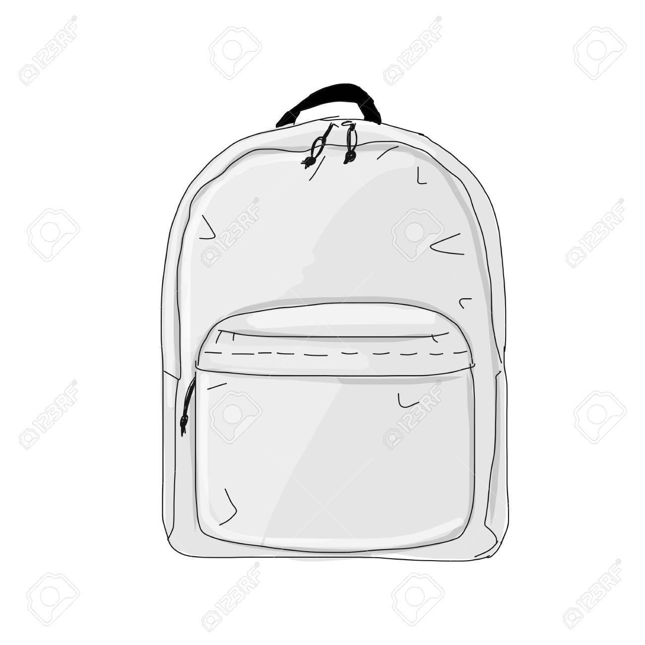 Backpack mockup, sketch for your design