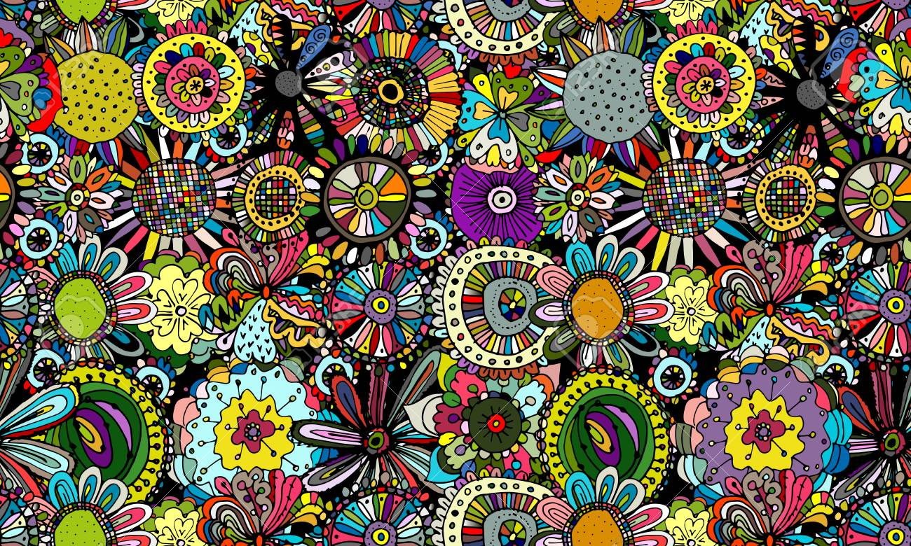 Floral seamless pattern for your design. Vector illustration - 97047903