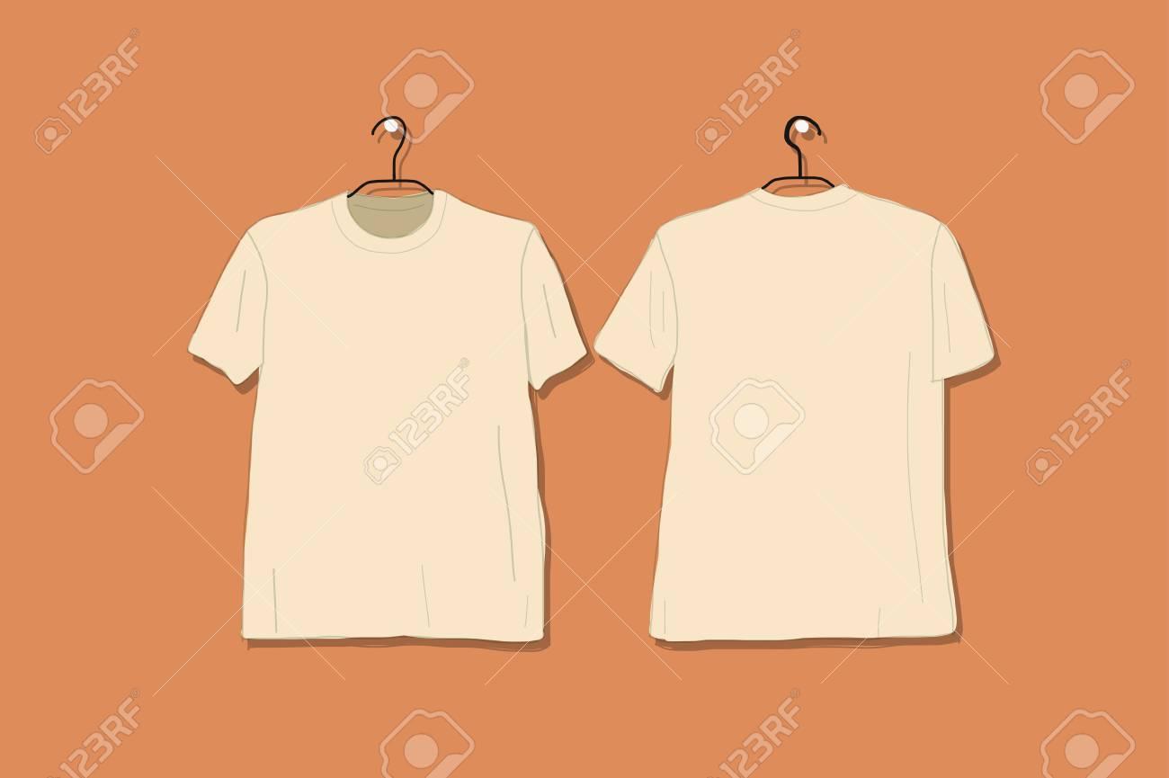Tshirt Mockup For Your Design Vector Illustration Royalty Free