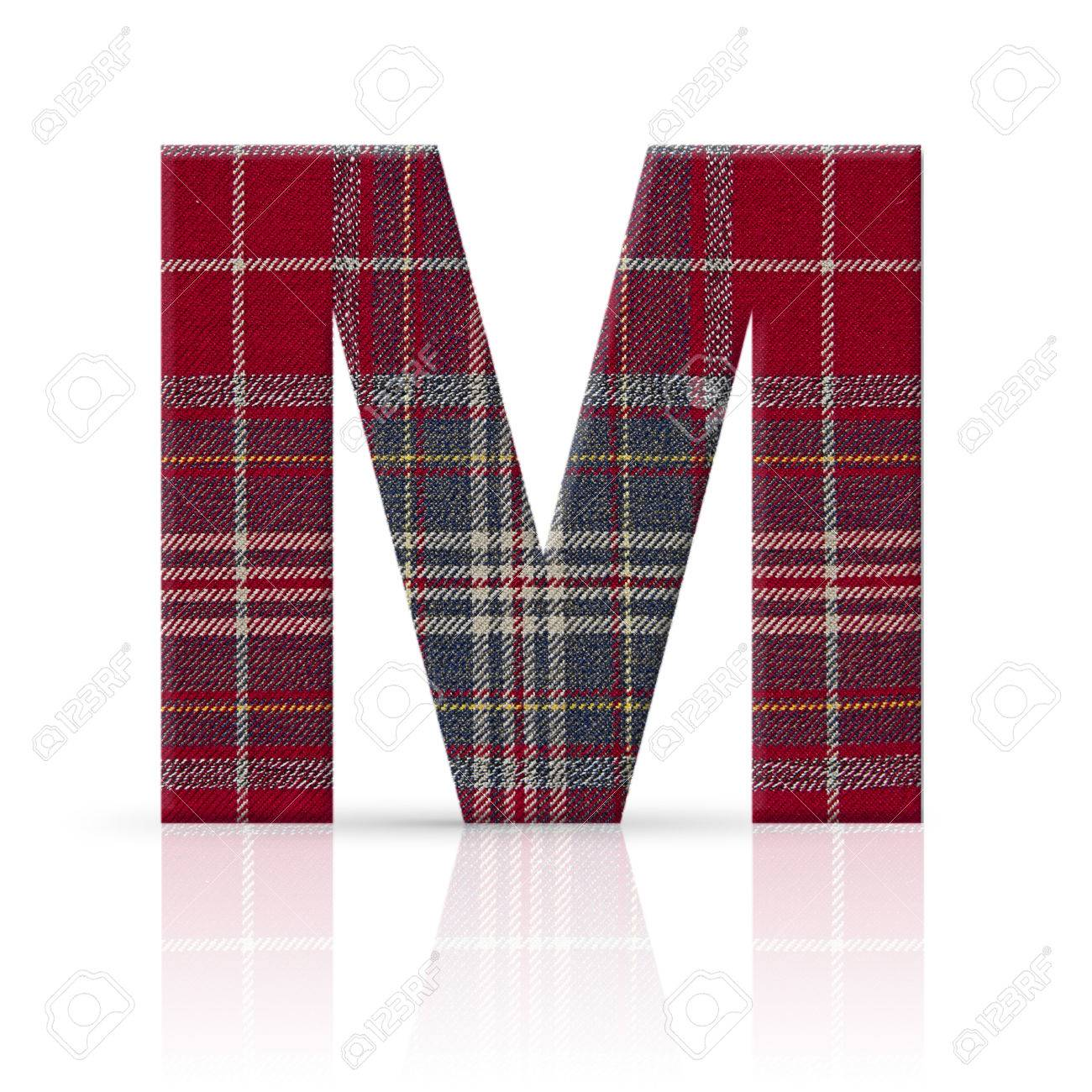m letter plaid fabric texture Stock Photo - 22782243