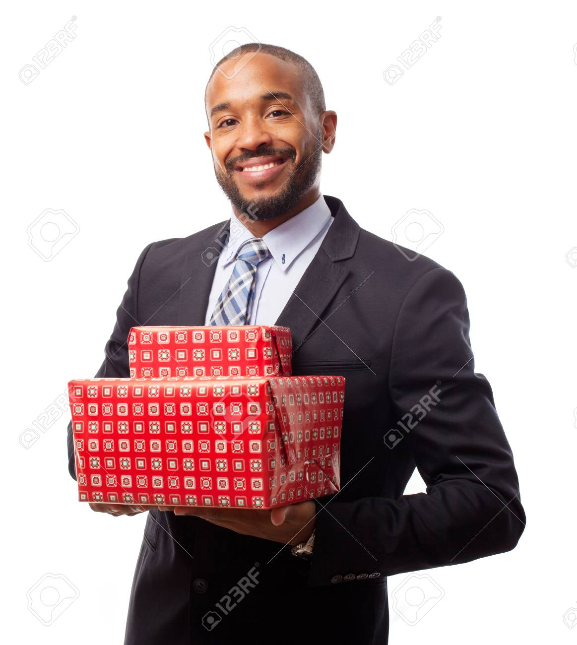 Stock Photo - young cool black man with gift boxes  sc 1 st  123RF.com & Young Cool Black Man With Gift Boxes Stock Photo Picture And ...