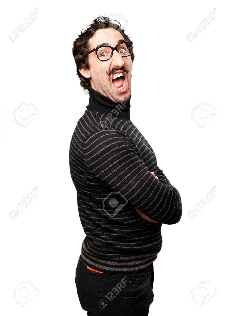 Pedantic man angry pose stock photo picture and royalty free image pedantic man angry pose stock photo 41524904 aloadofball Images
