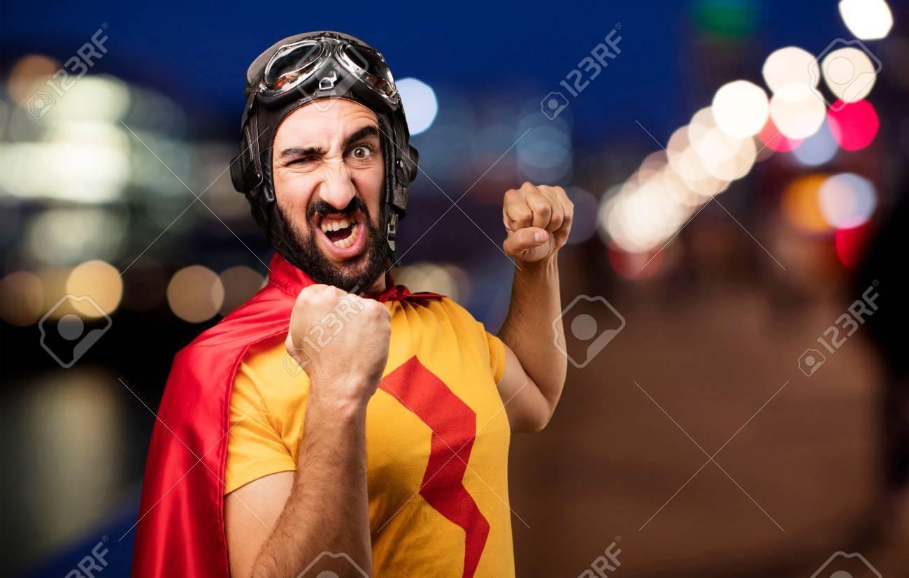 crazy super hero fighting - 72156793