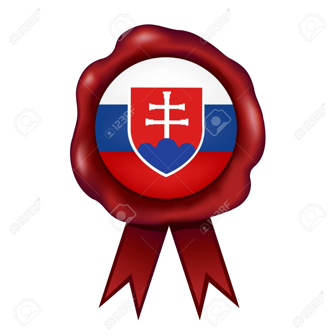 flag of slovakia wax seal vector illustration royalty free cliparts rh 123rf com seal victor #60954 seal victor 60265