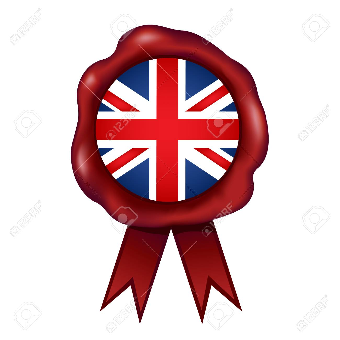 flag of the united kingdom wax seal vector illustration royalty rh 123rf com seal victory age of wonder 3 seal victory age of wonder 3