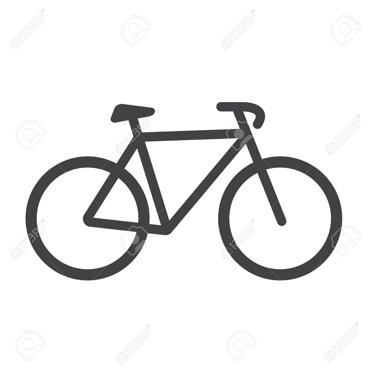 bike icon bike vector isolated on white background flat vector rh 123rf com vector bikes novi sad vector bike icon free download