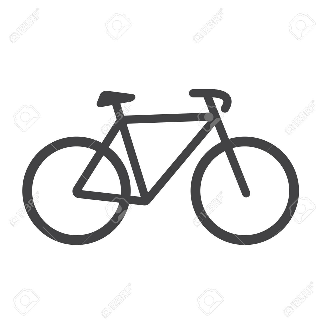 Icona Della Bici Vettore Della Bici Isolato Su Priorità Bassa Bianca Illustrazione Vettoriale Piatto