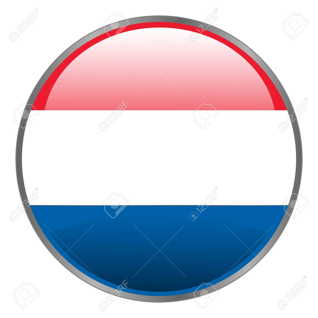 netherlands holland dutch flag round isolated vector icon with