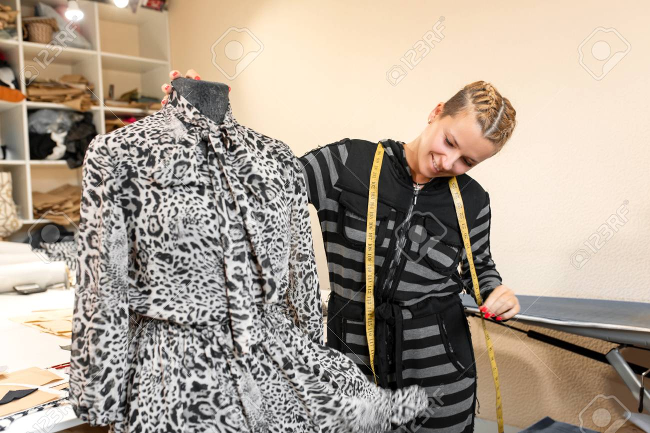 Dressmaker With Mannequin As Professional Fashion Designer Female Stock Photo Picture And Royalty Free Image Image 122005412