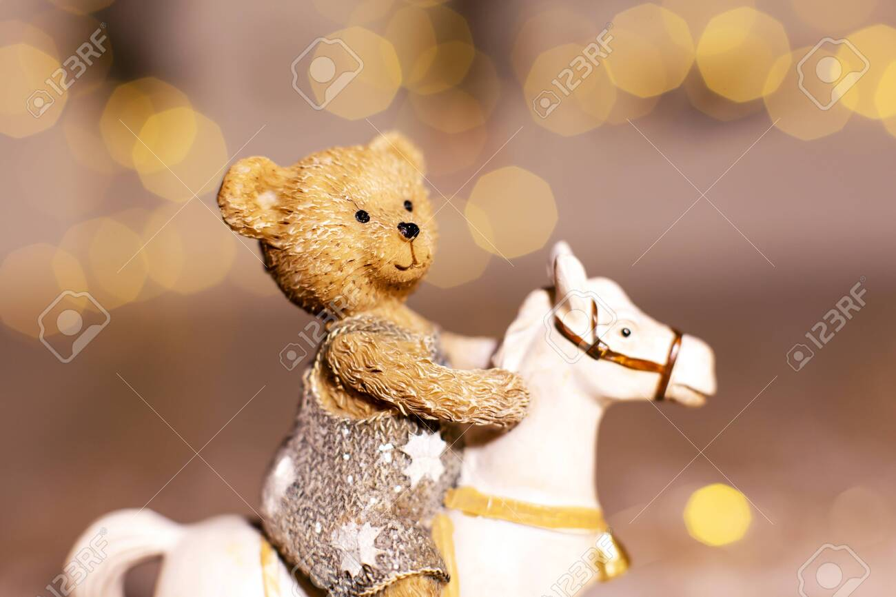 Decorative Figurines Of A Christmas Theme Figurine Of A Little Stock Photo Picture And Royalty Free Image Image 133144756